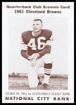 Don Fleming 1961 National City Bank Browns football card