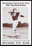 1961 National City Bank Browns Len Dawson