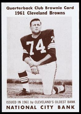 Mike McCormack 1961 National City Bank Browns football card
