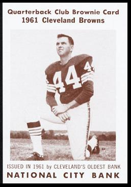 Jim Shofner 1961 National City Bank Browns football card