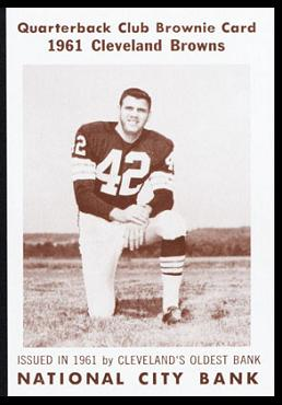 Bob Crespino 1961 National City Bank Browns football card