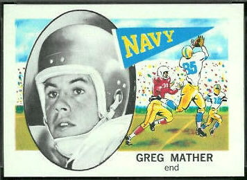 Greg Mather 1961 Nu-Card football card