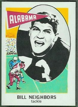 Billy Neighbors 1961 Nu-Card football card