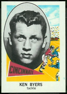 Ken Byers 1961 Nu-Card football card