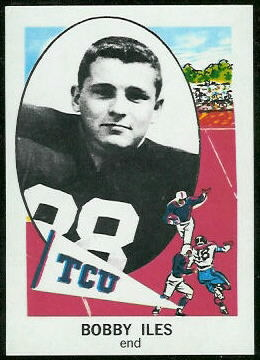 Bobby Iles 1961 Nu-Card football card