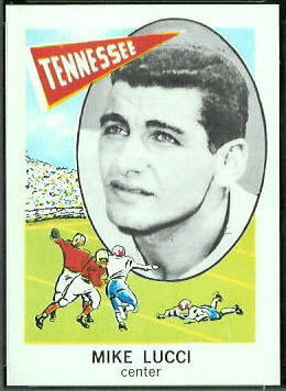 Mike Lucci 1961 Nu-Card football card