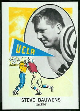 Steve Bauwens 1961 Nu-Card football card