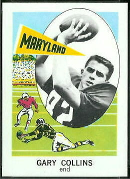 Gary Collins 1961 Nu-Card football card