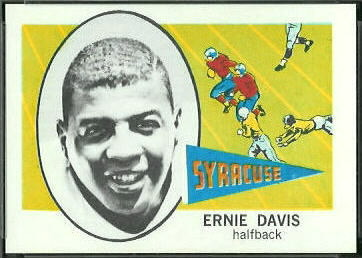 1961 Nu-Card Ernie Davis football card