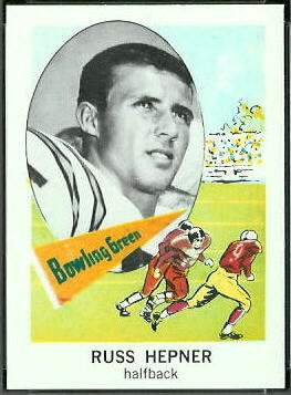 Russ Hepner 1961 Nu-Card football card