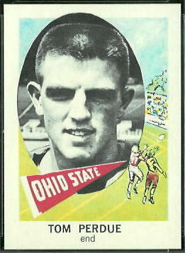 Tom Perdue 1961 Nu-Card football card