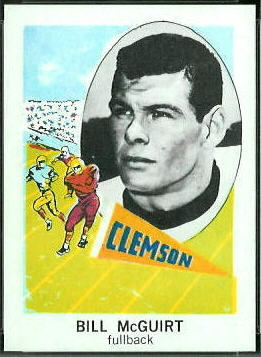 Bill McGuirt 1961 Nu-Card football card
