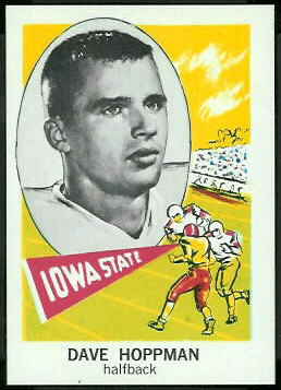 1961 Nu-Card Dave Hoppmann error football card