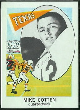 Mike Cotten 1961 Nu-Card football card