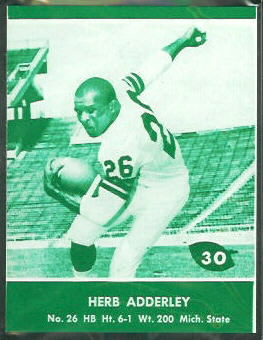 1961 Lake to Lake Packers Herb Adderley football card