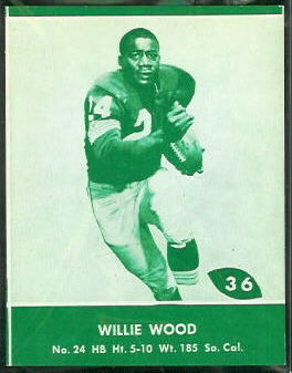 1961 Lake to Lake Packers Willie Wood football card