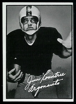 Jim Rountree 1961 Topps CFL football card