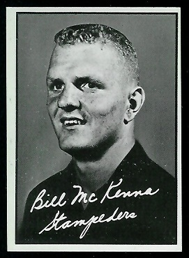 Bill McKenna 1961 Topps CFL football card