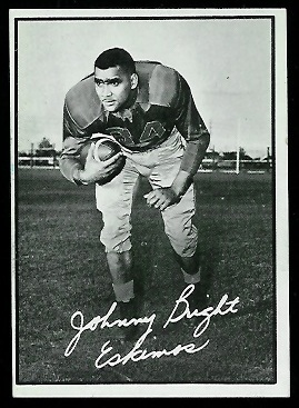 John Bright 1961 Topps CFL football card