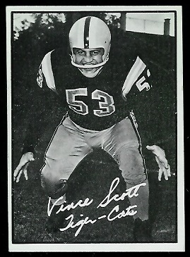 Vince Scott 1961 Topps CFL football card