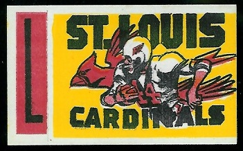 St. Louis Cardinals 1961 Topps Flocked Stickers football card