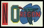 1961 Topps Flocked Sticker: Oregon Ducks