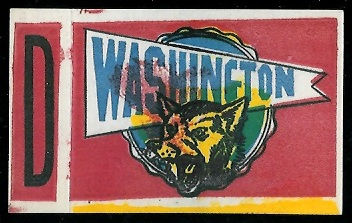 Washington 1961 Topps Flocked Stickers football card