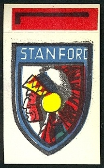 Stanford 1961 Topps Flocked Stickers football card