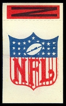 NFL 1961 Topps Flocked Stickers football card