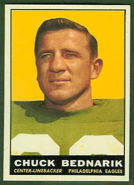 Chuck Bednarik 1961 Topps football card