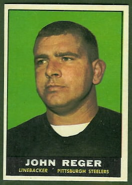 John Reger 1961 Topps football card
