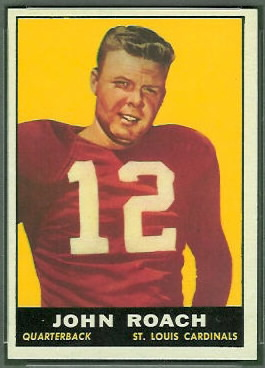 John Roach 1961 Topps rookie football card