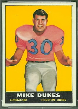 1961 Topps Mike Dukes football card
