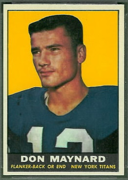1961 Topps Don Maynard rookie football card