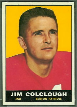Jim Colclough 1961 Topps football card
