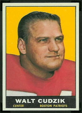 Walt Cudzik 1961 Topps football card