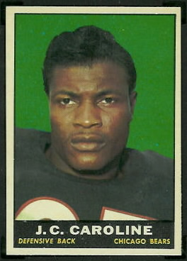 J.C. Caroline 1961 Topps football card