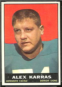 Alex Karras 1961 Topps football card