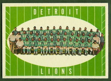 Lions Team 1961 Topps football card
