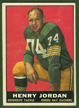 Henry Jordan 1961 Topps football card