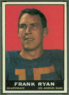 Frank Ryan 1961 Topps football card