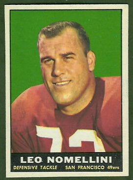Leo Nomellini 1961 Topps football card