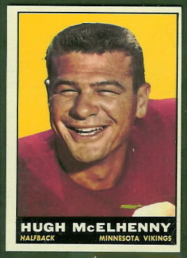 Hugh McElhenny 1961 Topps football card