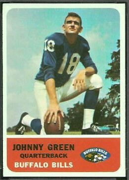 Chuck Green 1962 Fleer football card