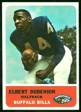 Elbert Dubenion 1962 Fleer football card
