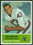 Jim Norton 1962 Fleer football card