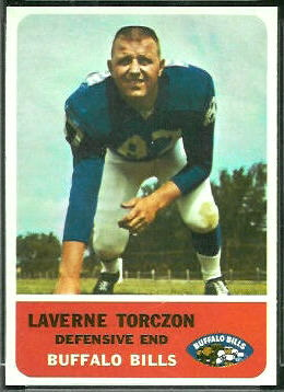 Laverne Torczon 1962 Fleer football card
