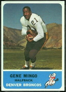 Gene Mingo 1962 Fleer football card
