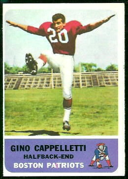 Gino Cappelletti 1962 Fleer football card