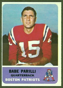 Babe Parilli 1962 Fleer football card